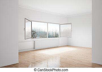 Empty winterroom