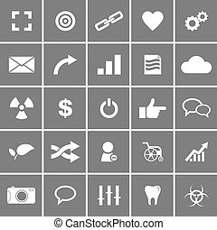 Universal Flat Vector Icons Set 4