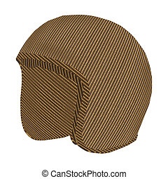 Cardboard Crash-Helmet - Crash-helmet made of cardboard over...