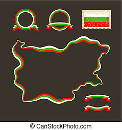 Colors of Bulgaria - Outline map of Bulgaria Border is...