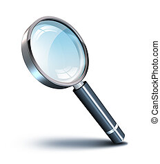 magnifying glass with shadow angle