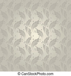 seamless pattern with a vintage leaves