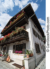 Beautiful house in Garmisch-Partenkirchen, Bavaria, Germany.