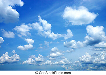Clouds in the blue sky. (Cirrus cloud)
