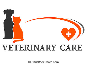 veterinary sign with place for text - abstract veterinary...