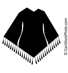 woman poncho vector