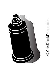 Spray can symbol vector