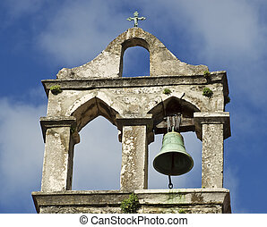 Bell tower - One bell is missing on the old bell tower.
