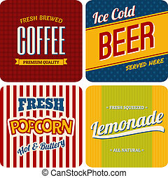 Retro Designs Collection - A set of four retro designs -...