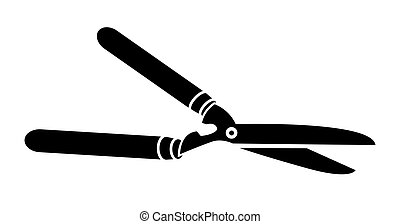 Garden shears vector illustration