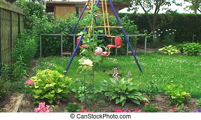 children Playground on the plot - children's Playground with...
