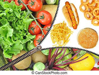 Healthy or unhealthy food choice
