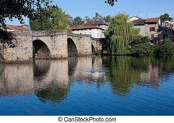 St Martials bridge in Limoges, France