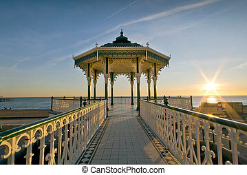 Brighton Bandstand at sunset - The refurbished Brighton...