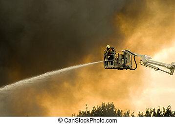 bomberos, acción