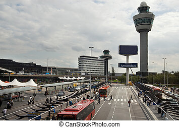 Amsterdam airport - schiphol Airport in Amsterdam the...