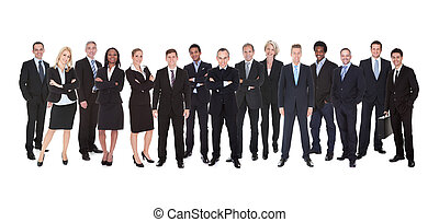 Group Of Business People - Group Of Smiling Business People...