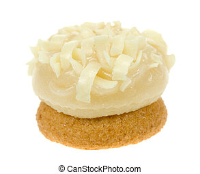 petit four isolated - delicious petit four isolated on a...