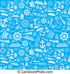nautical and marine background - nautical and marine icons...