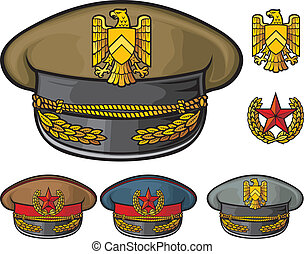 military hats (military officer's caps, army caps)