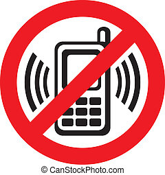 no cell phone sign - vector no cell phone sign warning sign...