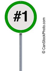 First Place - A modified speed limit sign implying first...