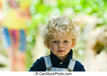 cute young boy in summer