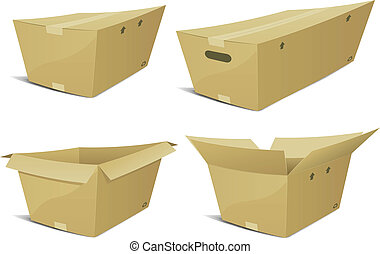 Cartoon Cardboard Box Set