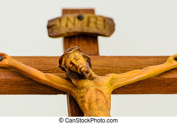 Statue of Jesus on the Cross. Photo taken on: August 17st,...