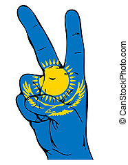 Peace Sign of the Kazakhstanian flag
