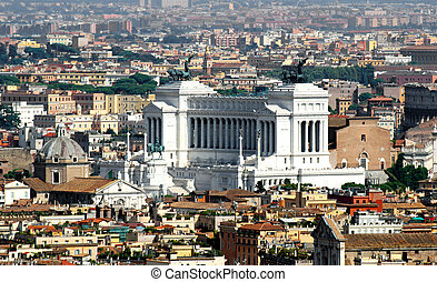 national monument to Vittorio Emanuele II called Vittoriano...