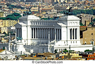 huge Vittoriano monument dedicated to Vittorio Emanual II...