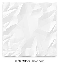 Wrinkled Paper Background 1 - A white, wrinkled piece of...