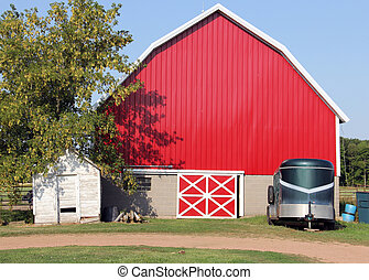 red rustic barn