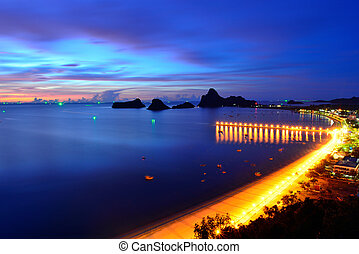 View of Ao Manao bay in Prachuap Khiri Khan, Thailand -...