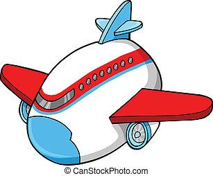 Cute Jumbo Jet Vector Illustration