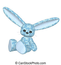 Plush bunny - Digitally rendered image of a plush bunny on...