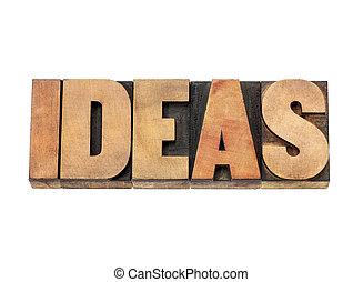 詞, 木頭, 類型, 想法