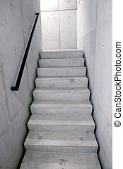 concrete staircase and stairs leading upwards - concrete...