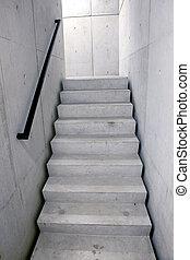 Concreto, escalera, Escaleras, primero, Hacia arriba