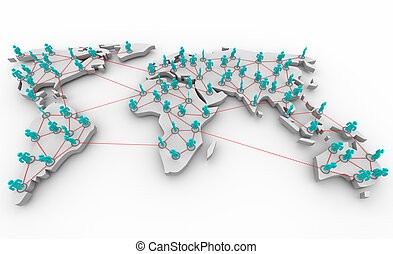 Global Network of People - A global map showing the...