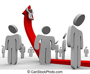 Riding Up the Growth Arrow - Crowd - A crowd watches one...