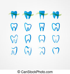 tooth icon set