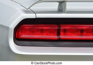 Brakelight detail on classic car - Brakelights on classic...