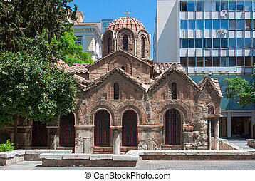 Church in Athens. - The old Orthodox Church in one of the...