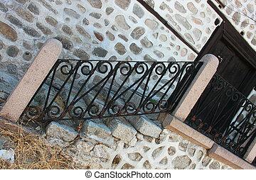 Metal banister