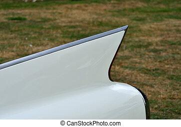 American car fin detail