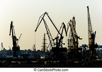 Cargo silouettes - Odessa port series of cargo silhouettes...
