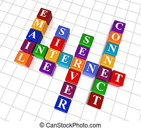 crossword 23 - internet - 3d colour cubes crossword -...
