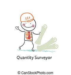 Quantity Surveyor with the documents